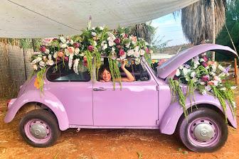 VW beetle flowers power